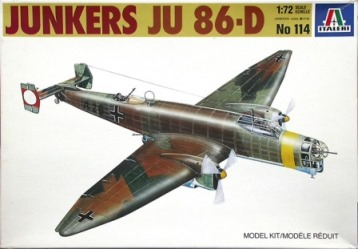 Italeri (IT114) JUnkers Ju-86D-1. 1/72