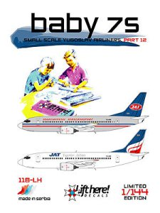 "118-LH ""Baby 7s"", Small Scale Yugoslav Airliners, pt 12, 1/114"