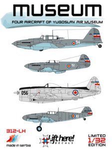 "312-LH ""Museum"", Four Aircraft of Yugoslav Air Museum, 1/32"