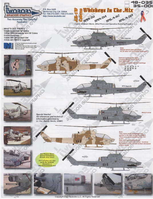 TwoBobs (48-035) AH-1W Cobras, Whiskies in the Mix, 1/48