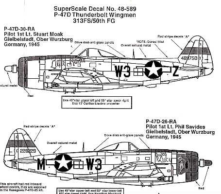 Superscale (48-0589) P-47D Thunderbolt Wingmen, 1/48