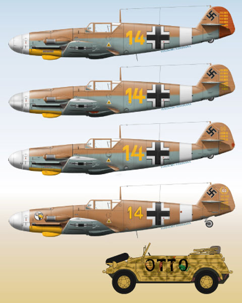 LL48-035, Messerschmitt Bf-109, Part 7, 1/48