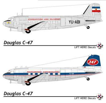 "701-LH ""AIRLINERS"" C-47/DC-3 YU-ABI of Yugoslav Airlines"