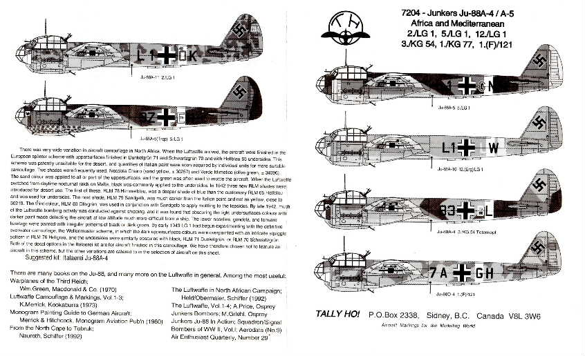TallyHo (7204) Junkers J-88A-4/5 Africa & Med, 1/72