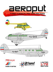 754-LH, Aeroput: Inter-war period Yugoslav Airlines, 1/72