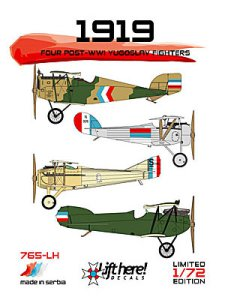"765-LH,""1919"": Four post-WWI Yugoslav Fighter 1/72"