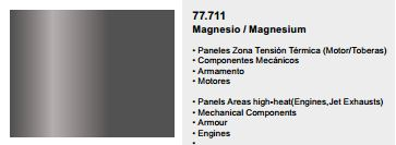 Metal Color, 77.711, Magnesium