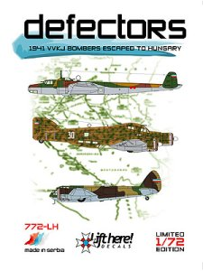 "772-LH ""Defectors"", 1941 VVKJ Bombers Escaped To Hungary, 1/72"