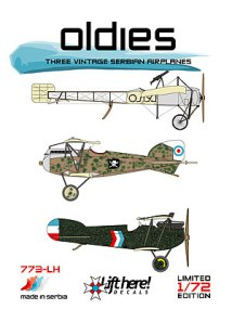 "773-LH ""Oldies"", Three Vintage Serbian Airplanes, 1/72"