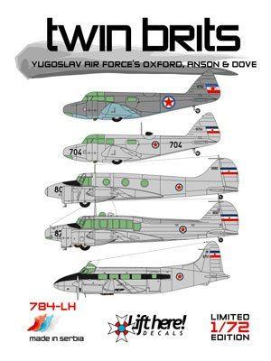 784-LH, Twin Brits: Yugo A/F Oxford, Anson Dove 1/72
