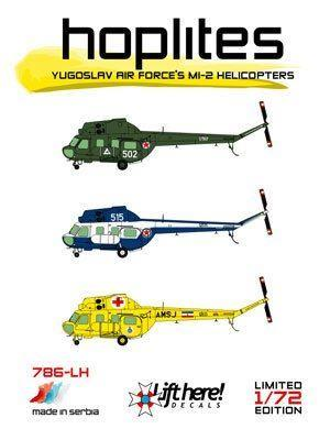 786-LH, Hoplites: Yugoslav Mil Mi-2 Helicopters, 1/72 - Click Image to Close