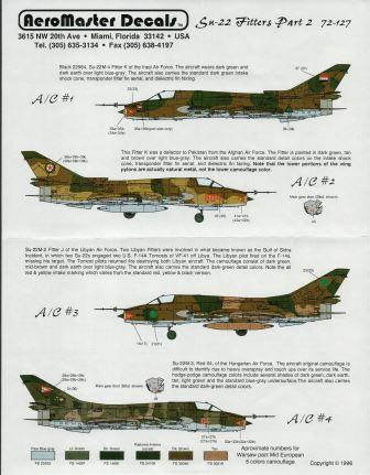 Aeromaster (72-127) Su-22 Fitters Part II, 1/72