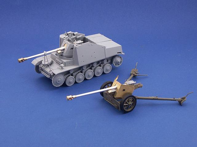 B35-076 75mm PaK40 barrel for A/T guns (Mid prod.), 1/35