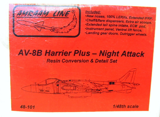 AMRAAM (48-101) AV-8B Harrier Plus - Night Attack conv, 1/48