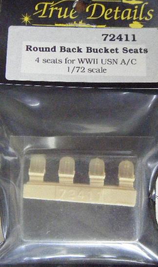 True Detail (72411) Round back bucket seats (USN) WWII (4), 1/72