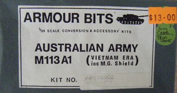 Armour Bits (35002) Aust M113A1 MG shield - Vietnam era, 1/35 **