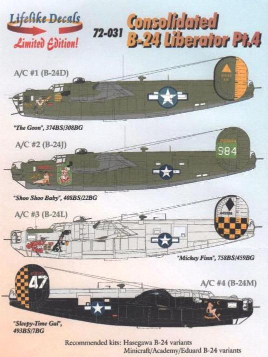 LL72-031, Consolidated B-24 Liberator Pt.4, 1/72