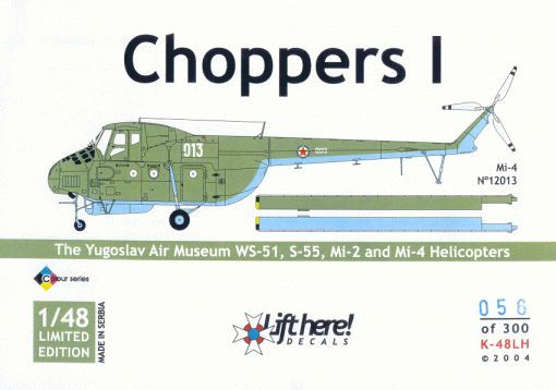"K-48LH ""Choppers I"" The Yugoslav Air Museum WS-51, S-55, Mi-2 an"