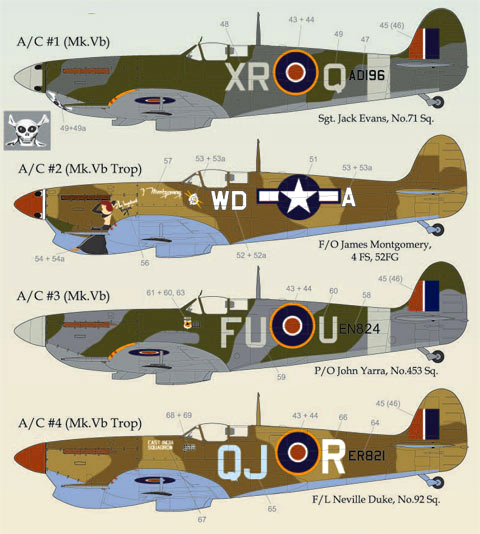 LL48-025, Supermarine Spitfire, part 3 ,1/48