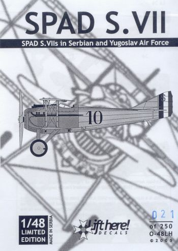 O-48LH SPAD S.VII in Serbian and Yugoslav Air Force
