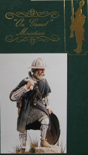 On Guard 75-002, German Foot Soldier, 1350, 75mm