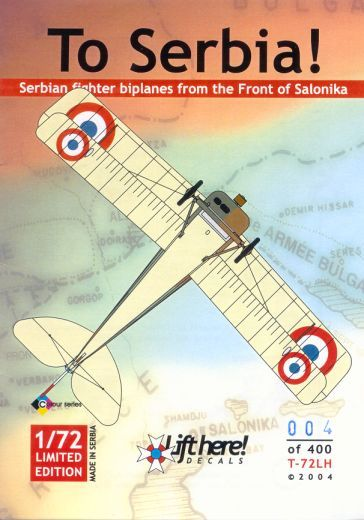 T-72LH To Serbia, Biplanes from the Front of Salonika