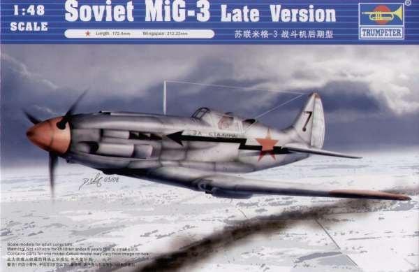 Trumpeter (02831) MiG-3 Late version, 1/48