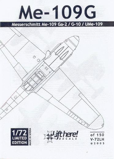 V-72LH Me-109G - ME-109Gs: Gustavs in the YAF