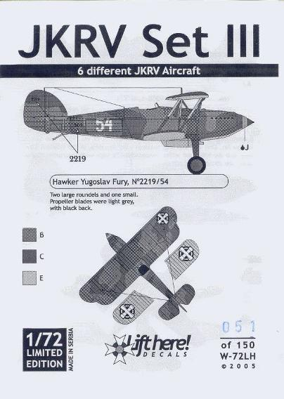 W-72LH JKRV III 6 different JKRV Aircraft