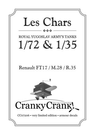 CC35001, Les Chars, Royal Yugoslav Army's Tanks, 1/35