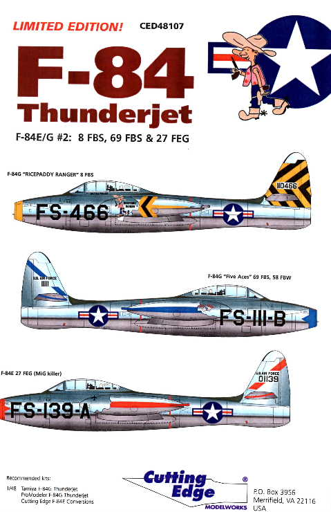 Cutting Edge (CED48107) F-84 Thunderjet, 1/48
