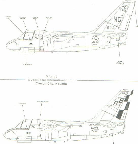 Superscale (48-0437) S-3A/B Vikings - Low-vis, 1/48