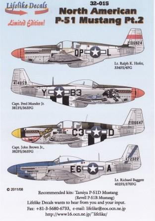 LL32-015, North American P-51 Part 2, 1/32