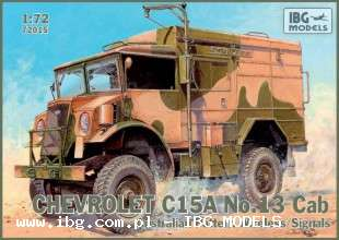 IBG (72015), Chevrolet C15A No.13 Cab Australian Pattern Wireles