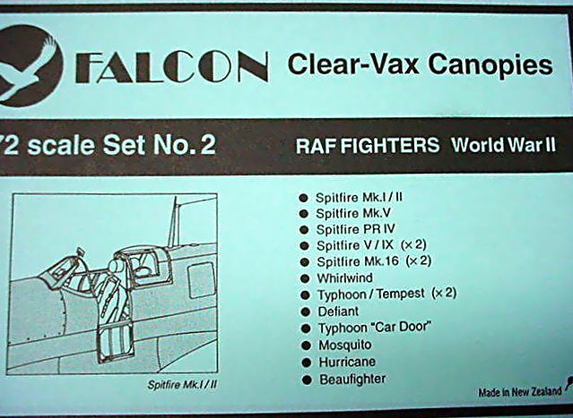 Falcon (VAX-02) RAF Fighters WWII, 1/72 **