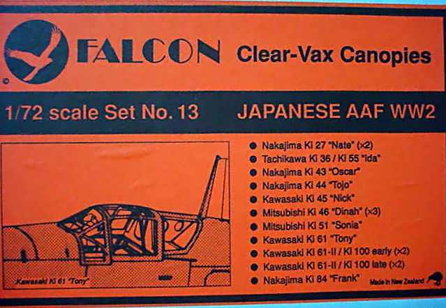 Falcon (VAX-13) Japanese Army Air Force WWII, 1/72 **