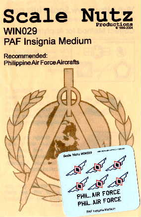 ScaleNutz (WIN029) Philippine Airforce National Insignia, 1/48